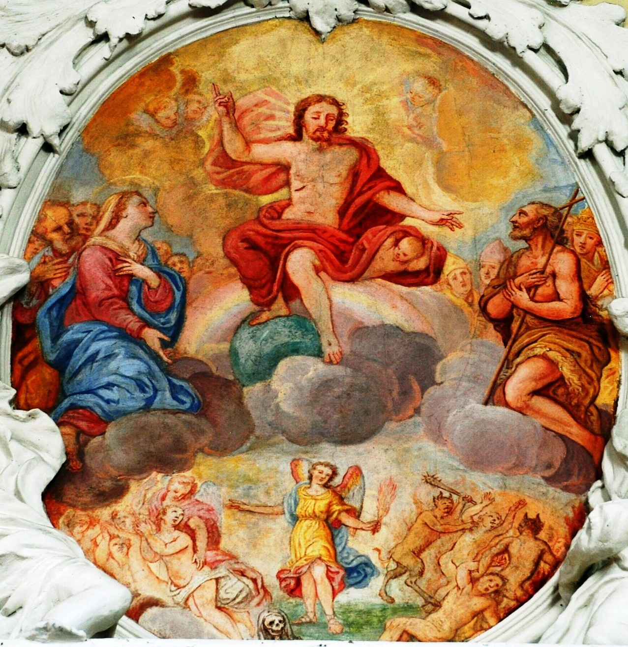 credo kirchenschiff wallfahrtskirche gartlberg  der richten wird die lebenden und die toten #5