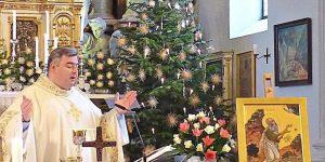 Provinzvikar Pater Jakob Zarzycki beim Ordenspatrozinium. −Foto: Kolb