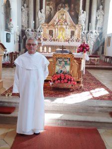 Pater Dariusz Michalczyk nach dem Festgottesdienst zum Wallfahrtstag am 13. September 2020
